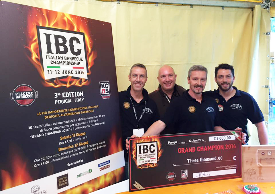 Brigboys BBQ Team - Grand Champions Italian Barbecue Championship 2016