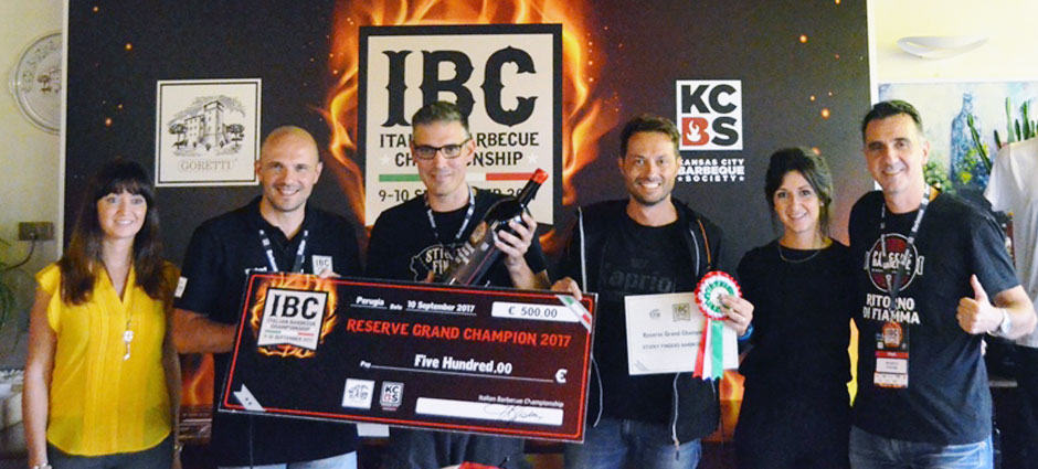 Italian Barbecue Championship 2017 Reserve Champion: Sticky Fingers BBQ Team