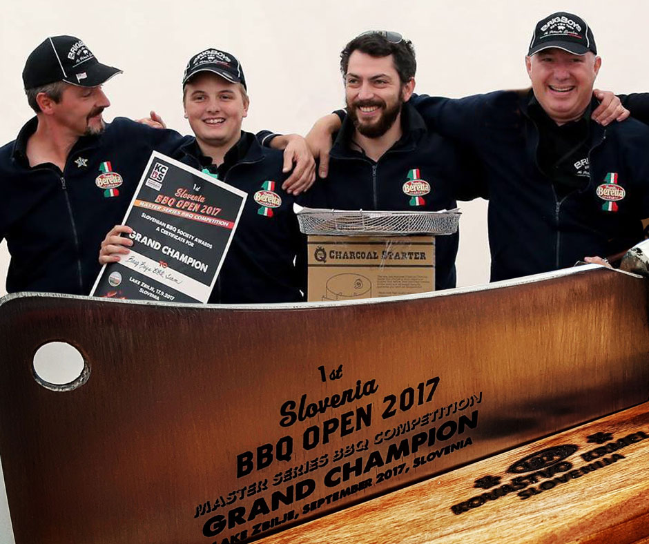 1st Slovenia BBQ Open 2017 Grand Champion The BrigBoys BBQ Team