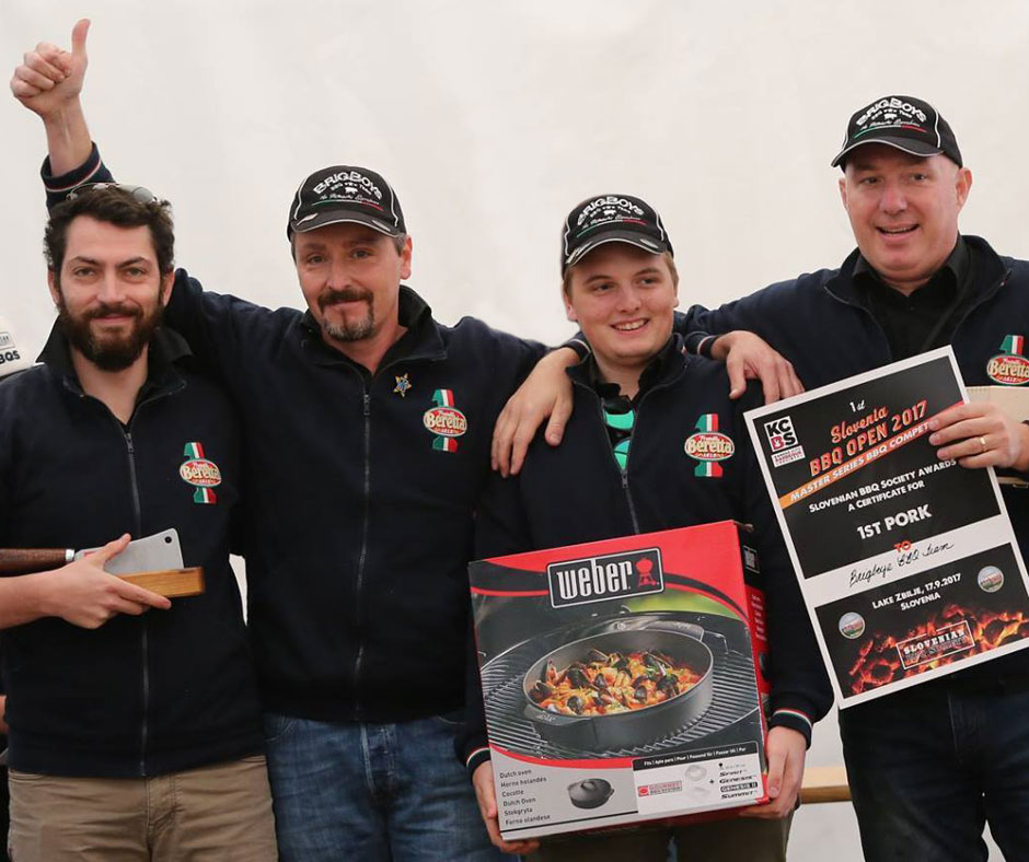 1st Slovenia BBQ Open 2017 1 posto nella categoria Pork BrigBoys BBQ Team